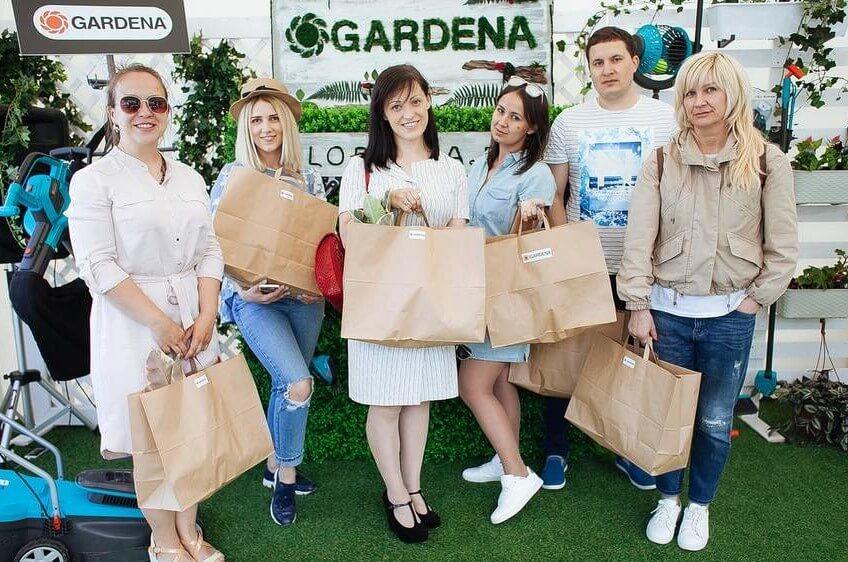Выставочный стенд компании Gardena